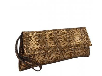 Kožené psaníčko do ruky Dory bronzová