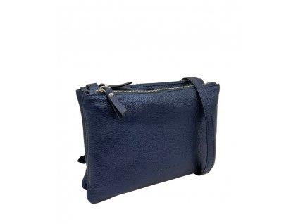 Kožená crossbody kabelka bílá dolaro ally (1)