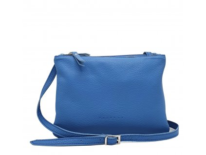 Kožená crossbody kabelka modrá ally (4)