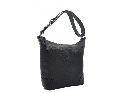 Kožená kabelka přes rameno LANNI černá