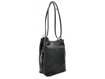 Kožená kabelka přes rameno HERTA černá