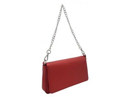 Kožená kabelka BRITA metalická červená
