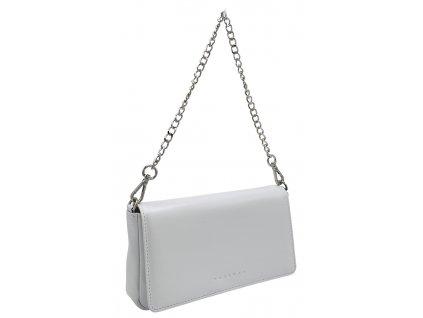 Kožená kabelka BRITA bílá perleťová