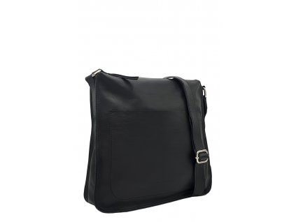 Dámská kožená kabelka Amy černá hladká