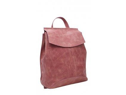 Kožený batoh Kenny růžový vintage
