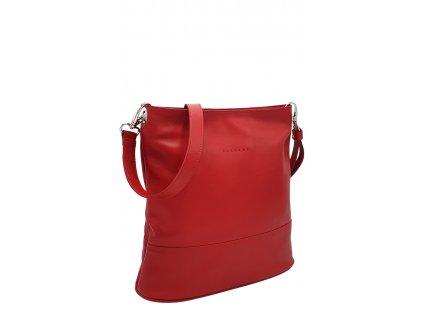 Kožená kabelka Fuda červená hladká