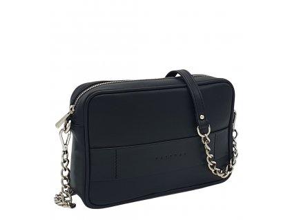 Kožená kabelka Nina černá hladká