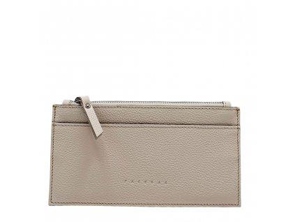 Kožená peněženka NORA béžová oboustranná