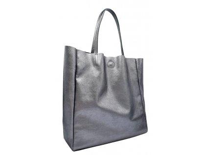 Kožená kabelka přes rameno Marly stříbrná