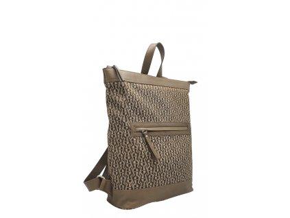 Polokožený batoh Lucien béžový