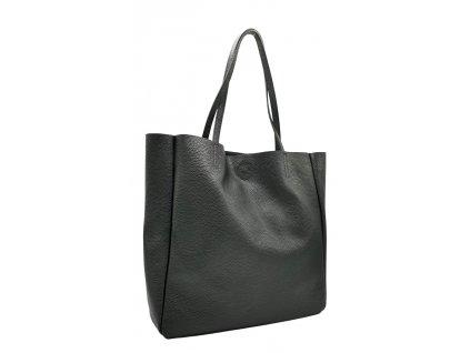 Kožená kabelka přes rameno Marly černá
