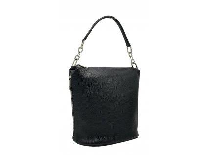 Dámská kožená kabelka Moly černá dolaro