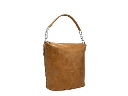 Dámská kožená kabelka Moly cuoio vintage