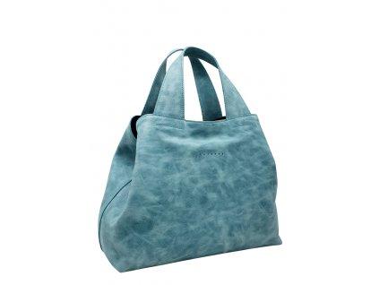 Kožená kabelka Sofi zelená vintage