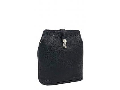 Kožená kabelka Anna malá černá dolaro