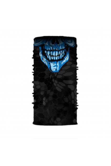 Faceshield BLUE SKULL (2)