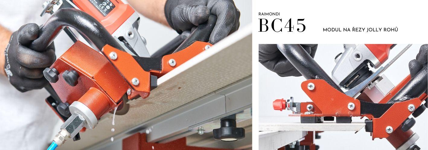 BC45 - modul na řezy Jolly rohů na hraně obkladů a dlažby