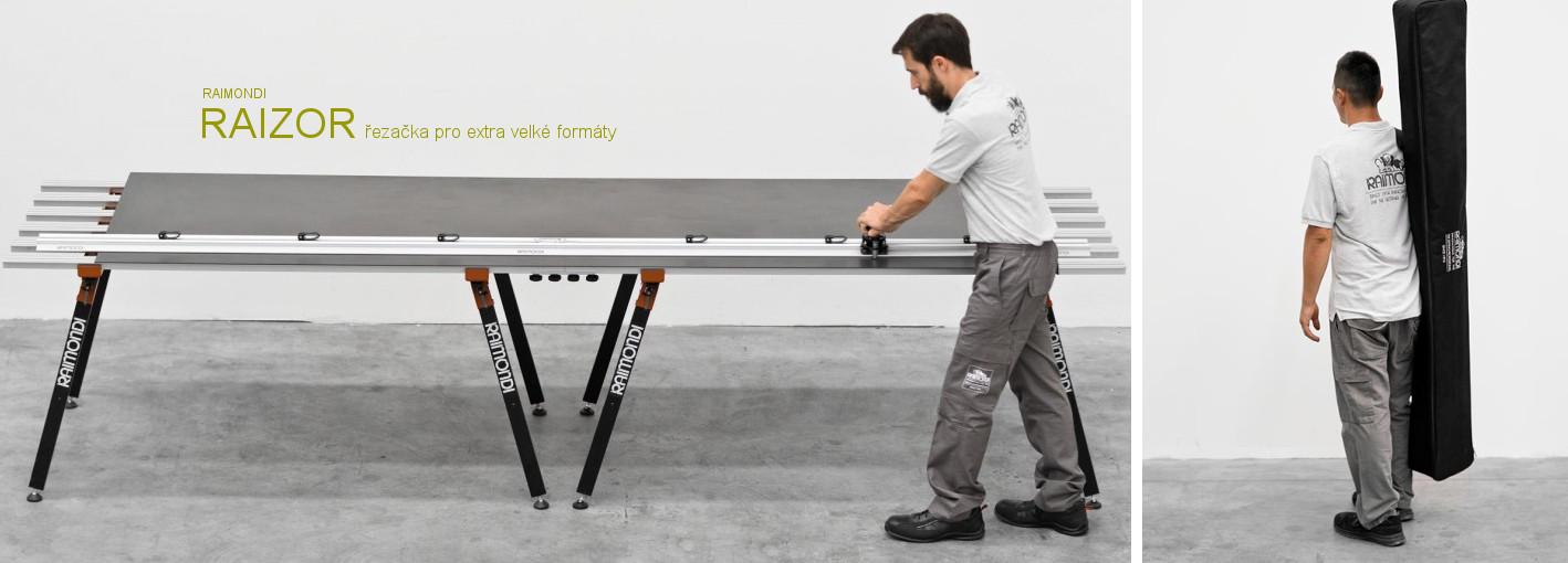 Raizor - profesionální řezačka tenkostěnných dlažeb