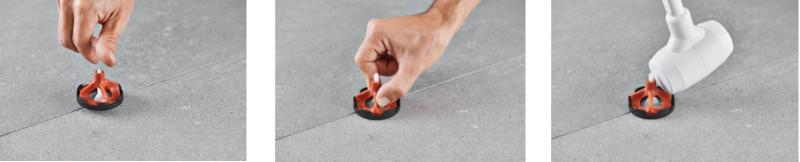 Montáž dlažby s ochrannou podložkou proti škrábancům