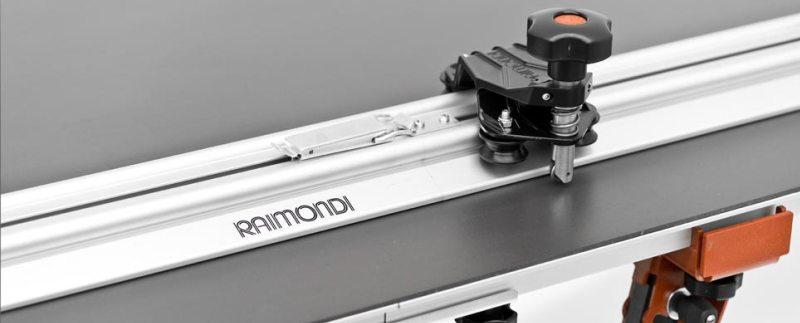 Raimondi Raizor - detail řezného mechanismu a vodící lišty