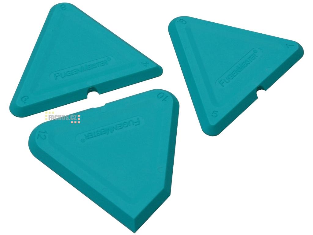 Pružné stěrky trojúhelník na silikon 4 12mm