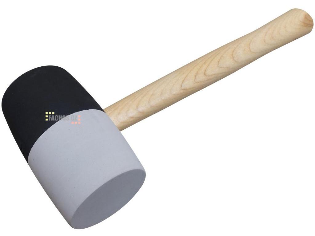 Gumová palička šedo černá, 65mm (fachos.cz)