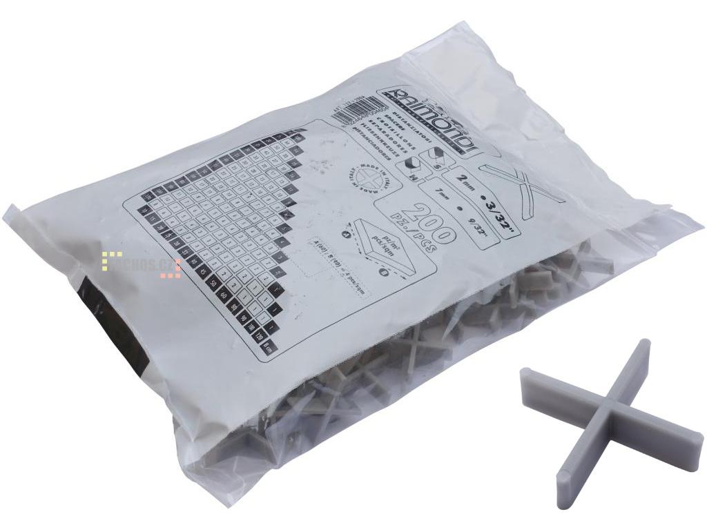 Raimondi křížky 2mm, výška 7mm, 200ks test 2