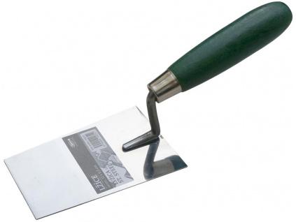 Zednická lžíce s dřevěnou rukojetí, 120mm (doc)