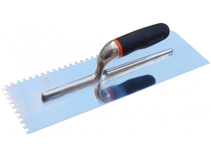 Nerez zubové hladítko pro obkladače, hranatý zub 6mm, rozměr 400x120mm