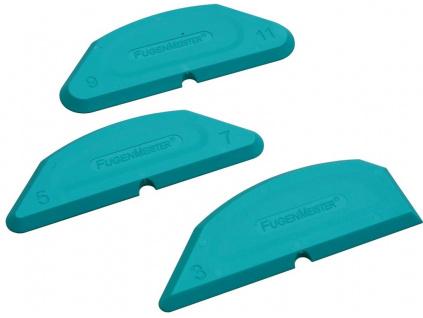 Lichoběžníkové stěrky na silikon 3,5,7,9,11mm + 90°