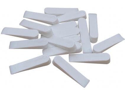 Bílé plastové klínky 0 8mm fachos.cz