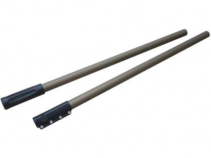 Dvoudílná hliníková tyč k rakli