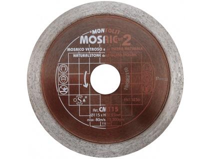 Diamantový kotouč Montolit CM115 na řezání skleněné mozaiky