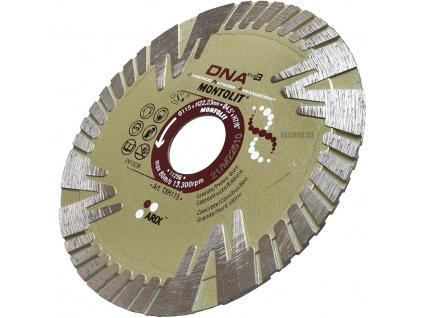 Montolit TXH 115mm - dia kotouč na nejtvrdší kámen a dlažby do 3cm