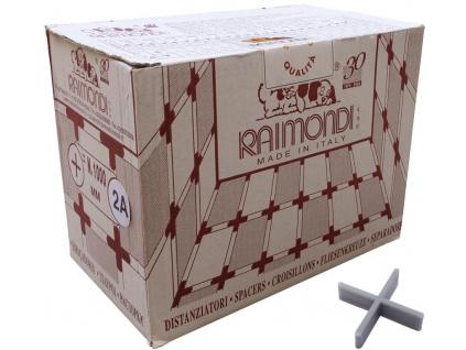 Raimondi křížky 2mm, výška 7mm, box 1000ks test 2