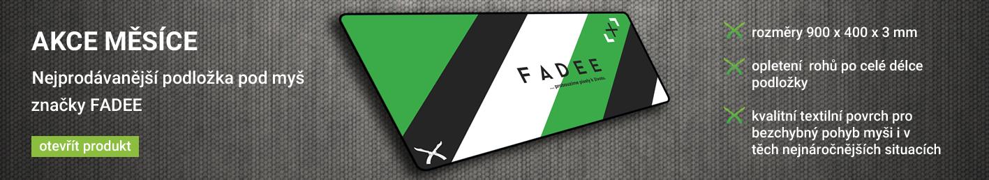 Banner fadee podložka produkt měsíce