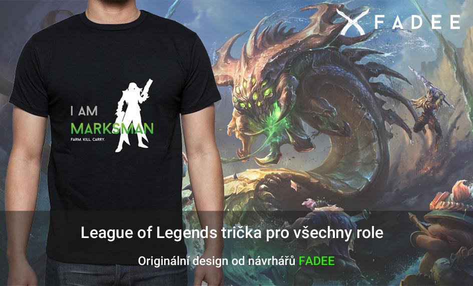 Tričko League of Legends Marksman, Fighter, Support, Mage, Tank, Assassin