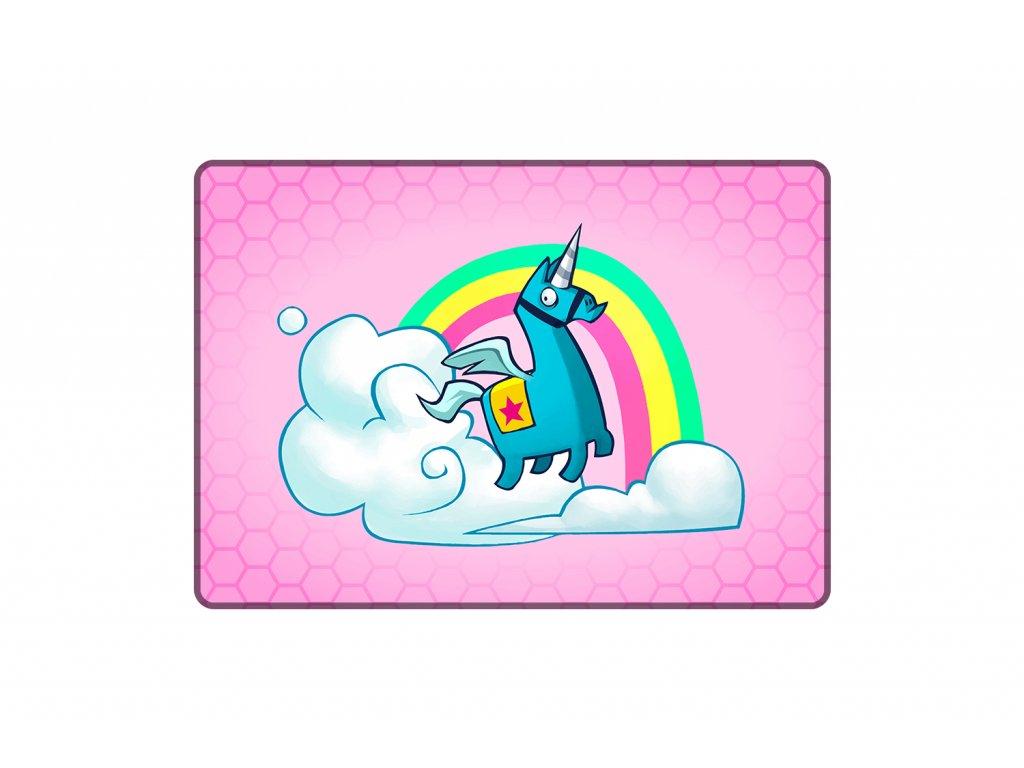 Herní podložka pod myš Rainbow Lama - M