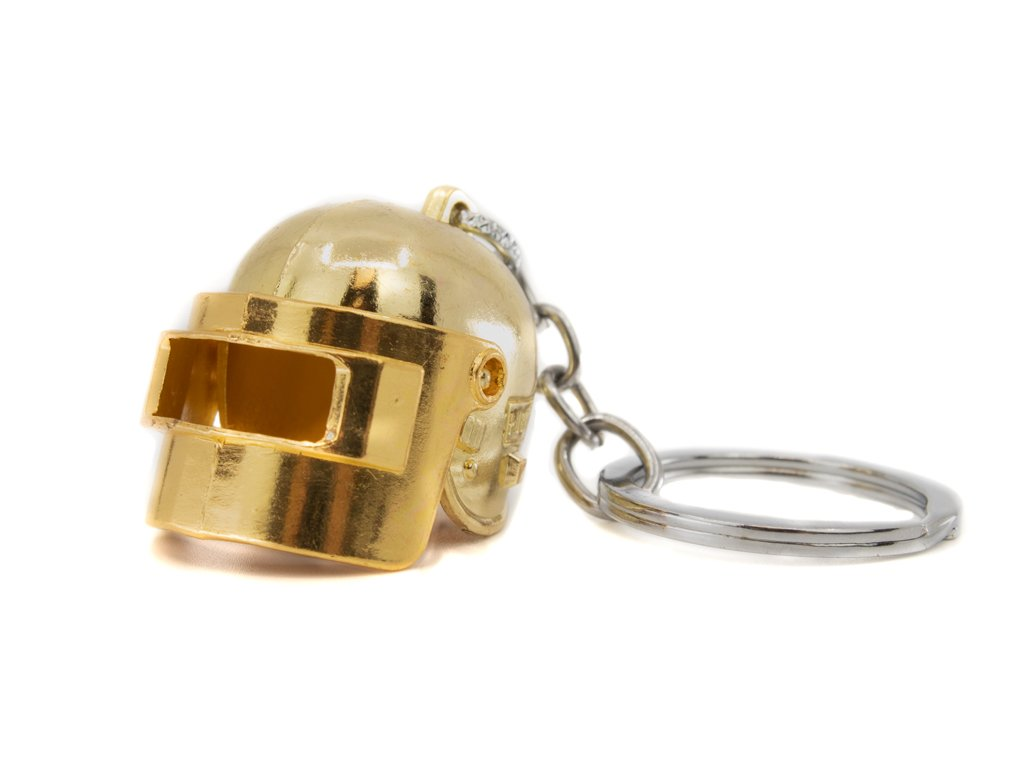 Klíčenka PUBG Helma - zlatá
