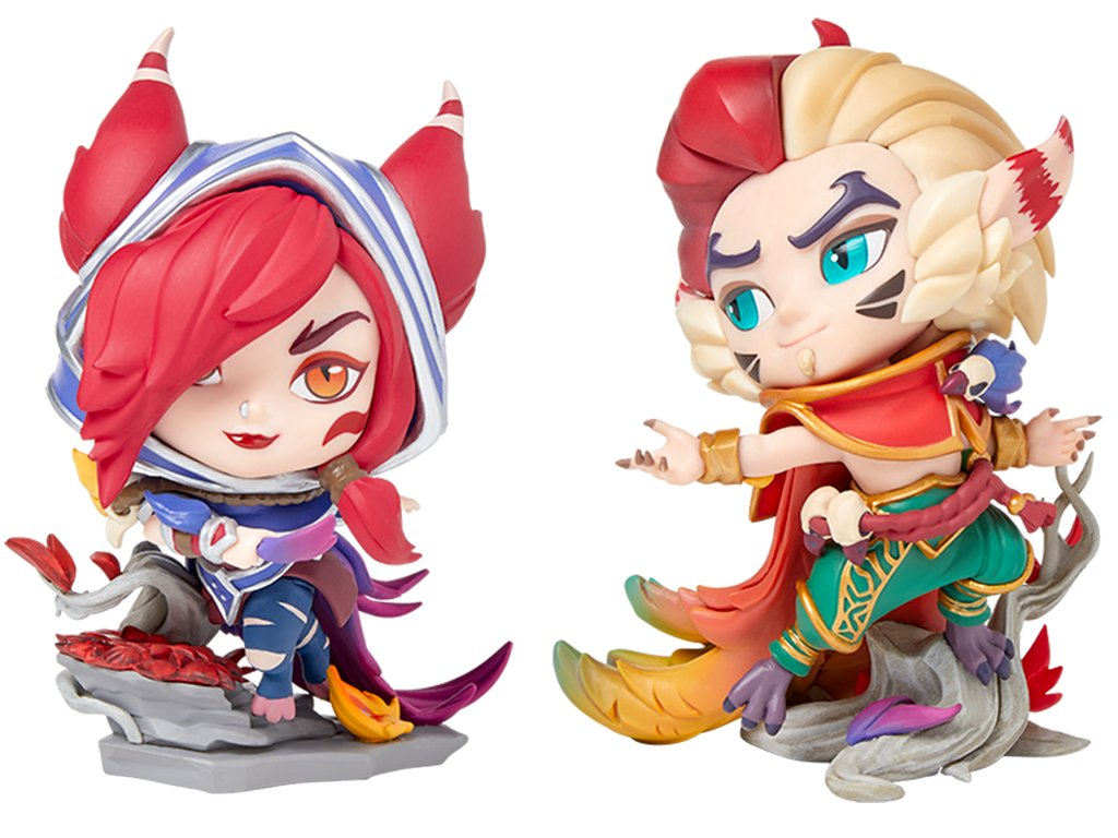 League of Legends DUO figurky Xayah a Rakan