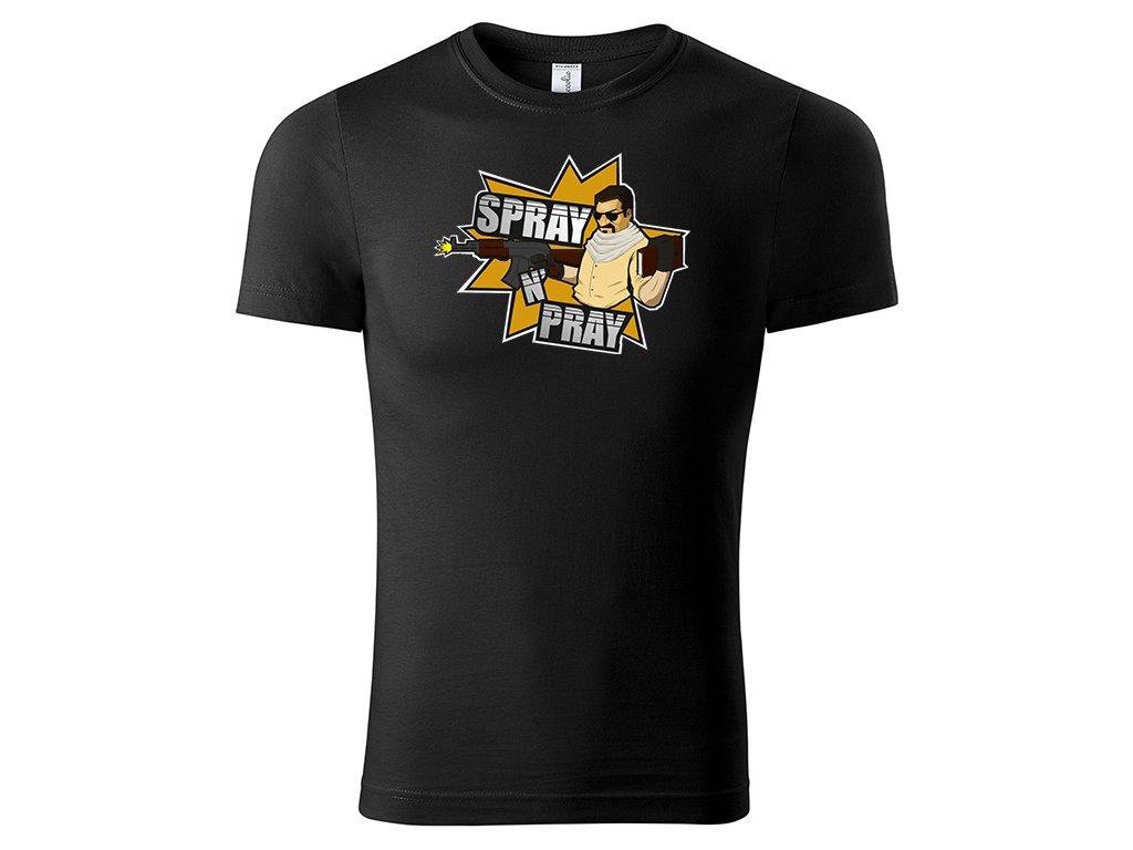 Tričko Spray 'n' Pray - černé