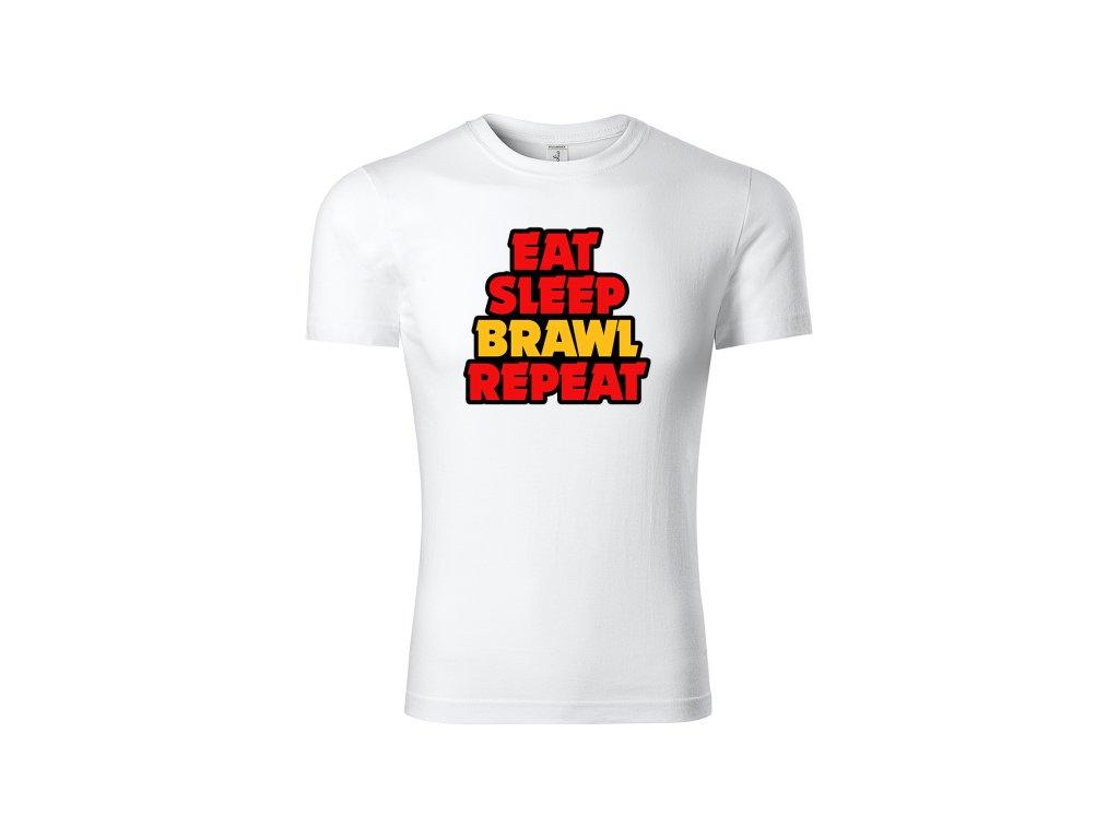 Eat sleep brawl white