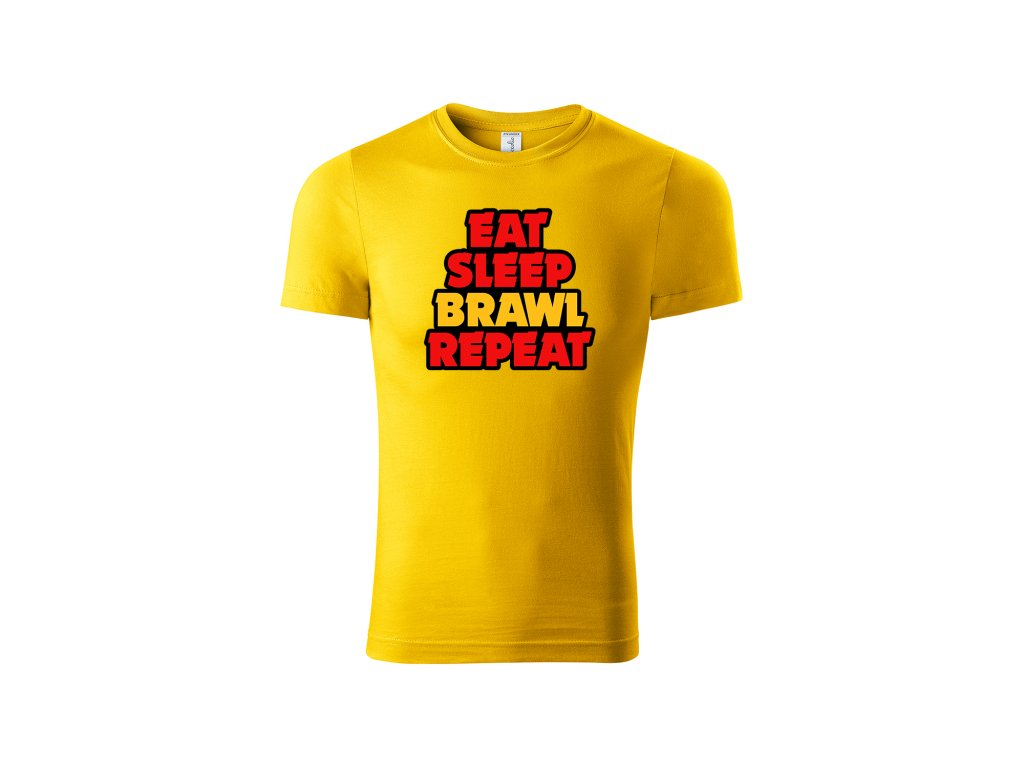 Eat sleep brawl yellow