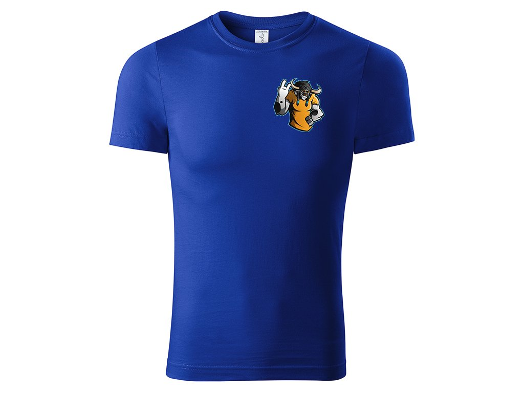 Tričko Atremis oboustranné kr. modra předek Paint Picolio Eshop Mock up (V1.01)