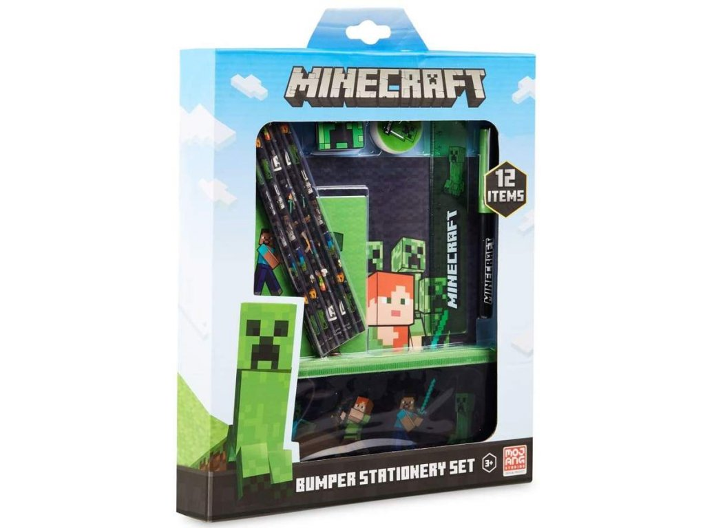 minecraft stationery set back to school supplies notebook pencil case get trend sets building toy block lego gadget construction 562 900x