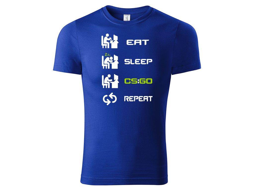 Tričko Eat Sleep CSGO Repeat