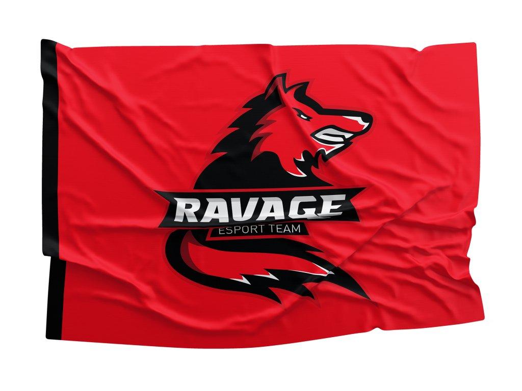 vlajka Ravage RED velká