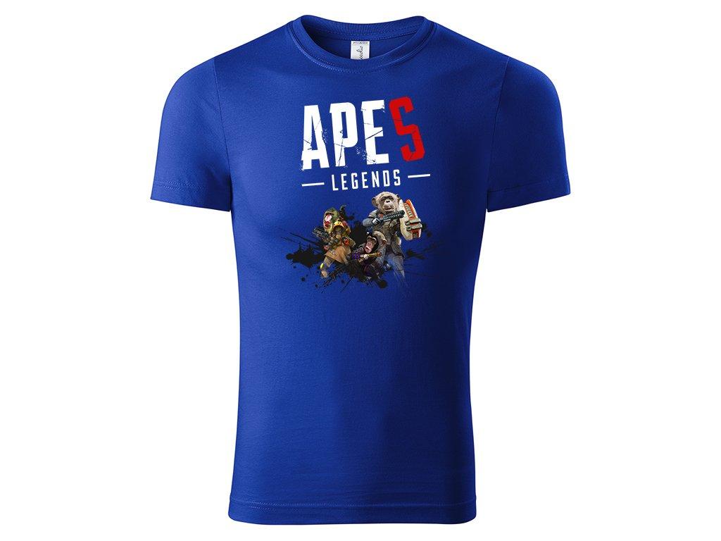 tričko apes legends strong blue