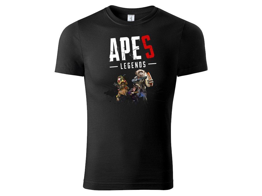 Tričko Apes Legends černé