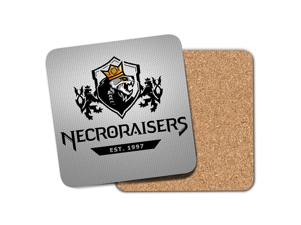 Necroraisers ŠEDÁ podtácek umístění na eshop